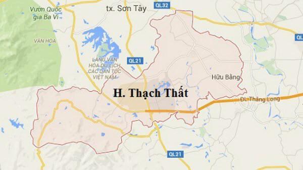 Bản đồ hành chính huyện Thạch Thất – Hà Nội